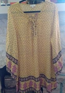 Saffron yellow Velzera tunic